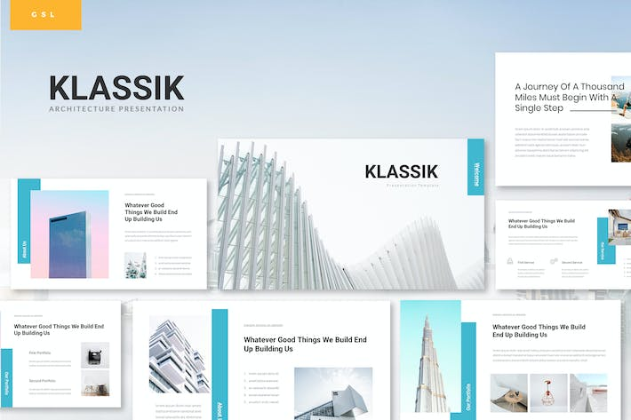 Thumbnail for Klassik - Architecture Google Slides Template