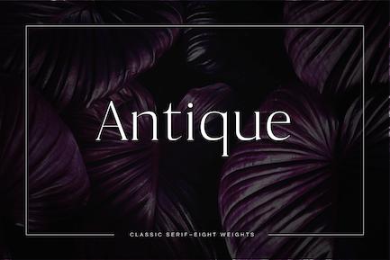 Antique - Luxury Con serifa Tipo de letra