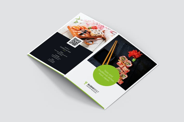 Thumbnail for Brochure – Sushi Restaurant Bi-Fold