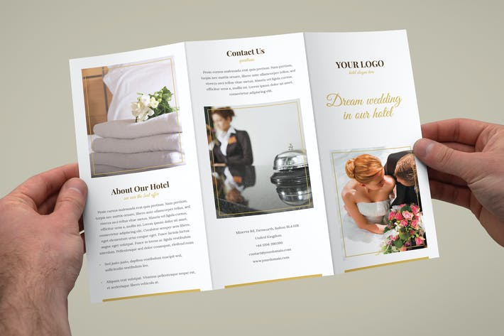 Thumbnail for Brochure – Hotel for Wedding Tri-Fold