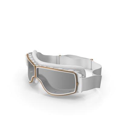 Retro Pilotenbrille weiß
