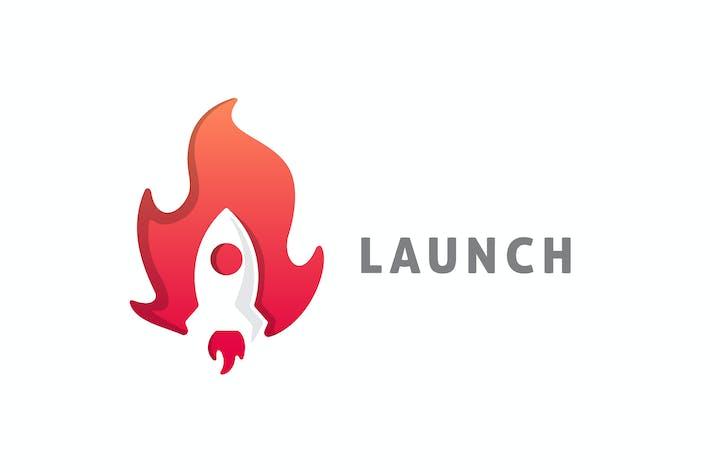 Thumbnail for Modern Negative Space Rocket Logo
