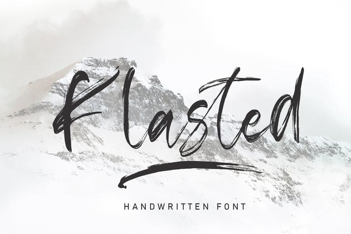 Thumbnail for Klasted Brush Font