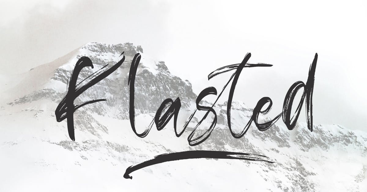 Download Klasted Brush Font by arendxstudio