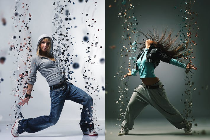 Thumbnail for Dispersion Photoshop Action