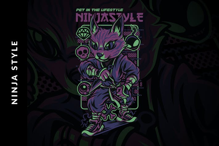 Thumbnail for Ninja Style Illustration