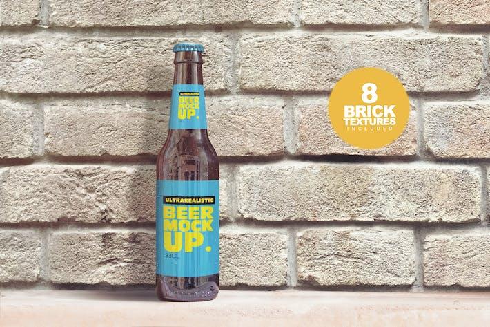 Thumbnail for Brick Backgrounds Beer Mockup