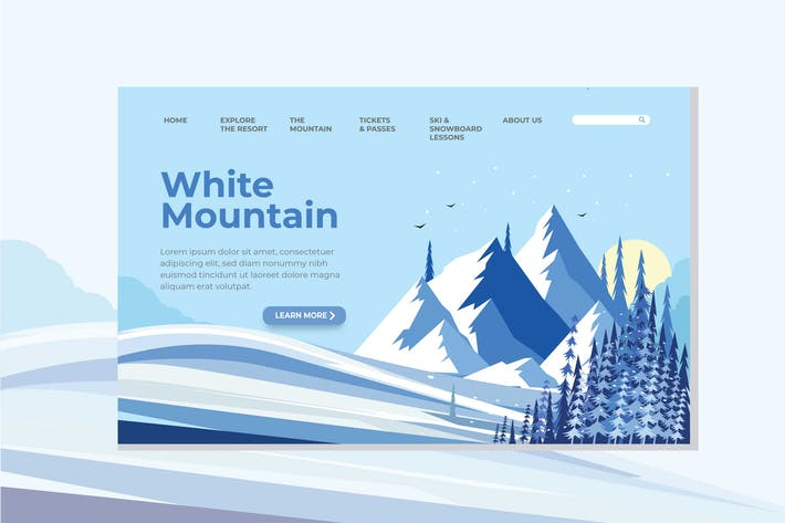 Thumbnail for White Mountain Landing Page Illustration