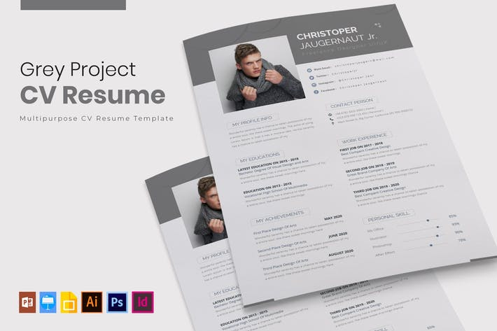Thumbnail for Grey Project | CV & Resume
