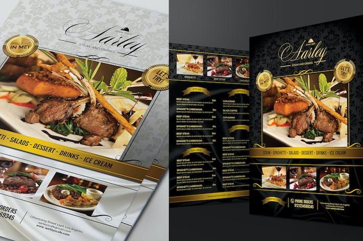 Thumbnail for Элегантный черный и белый меню ресторана