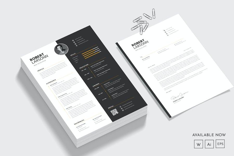 Modern CV Resume & Cover Letter Template