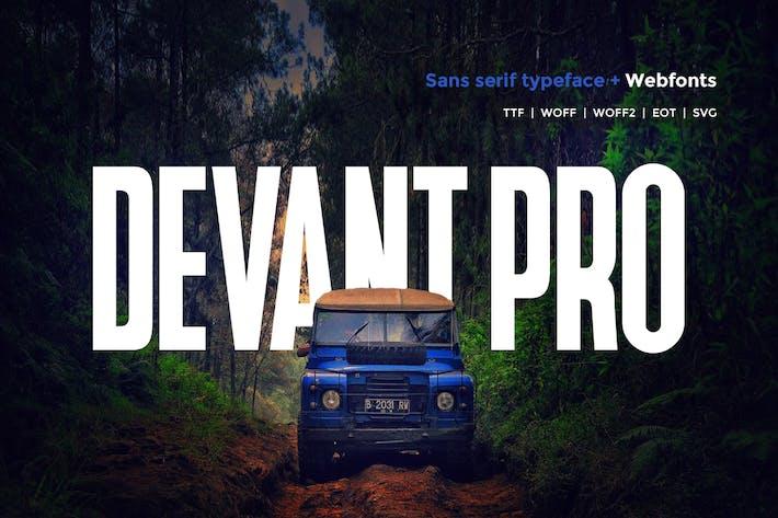 Thumbnail for Devant pro - Modern Typeface + WebFont