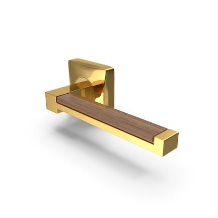 Door Handle Gold Wood