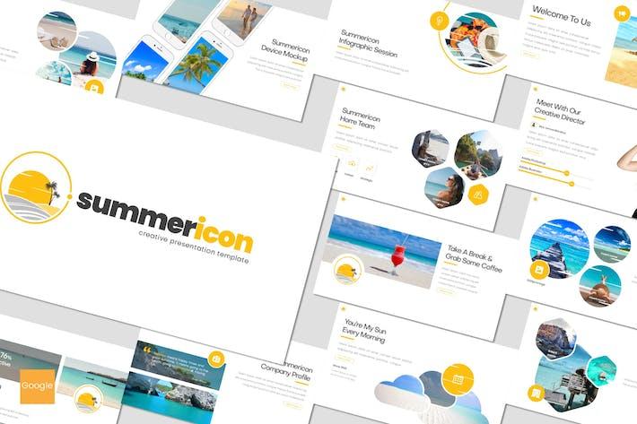 Thumbnail for Summericon - Google Slides Template