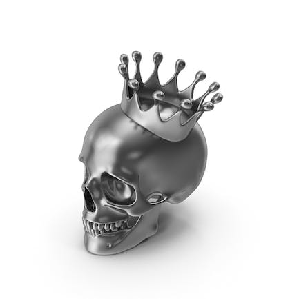 Silver Skull with Crown