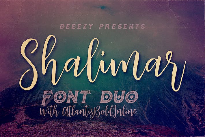 Thumbnail for Shalimar Font Duo