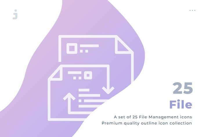 Thumbnail for 25 File icon set