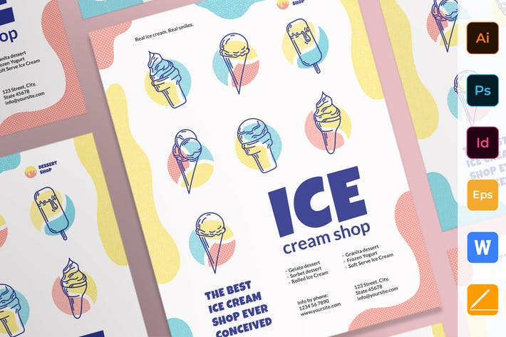 Thumbnail for Ice Cream Shop Poster