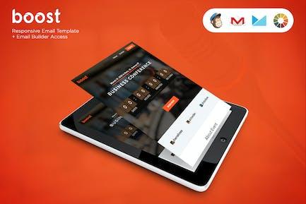 Boost - Event-E-Mail-Vorlage + Builder-Zugriff