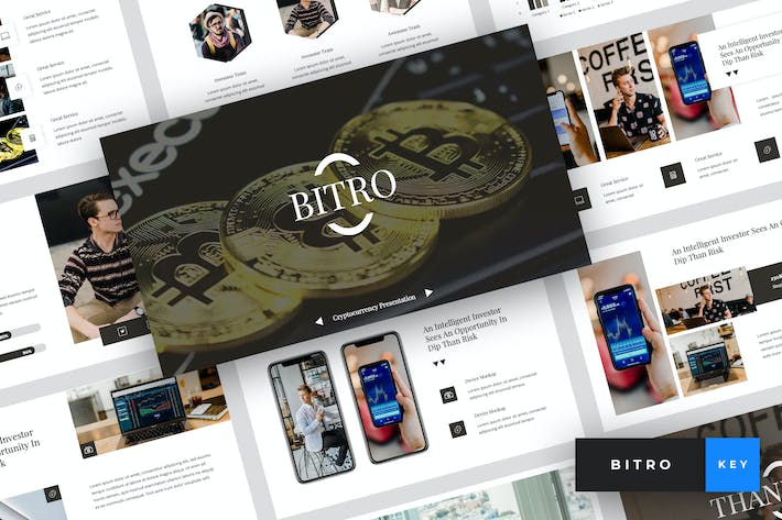 Thumbnail for Bitro - Criptocurrency Keynote Template