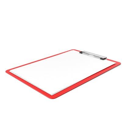 Portapapeles Paper Side Rojo