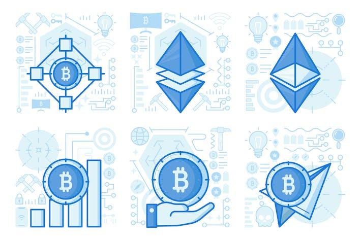 Thumbnail for illustrations UX de l'interface utilisateur réseau Bitcoin