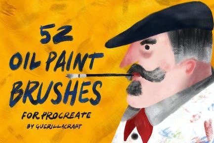 Pinceles de pintura al óleo para Procreate