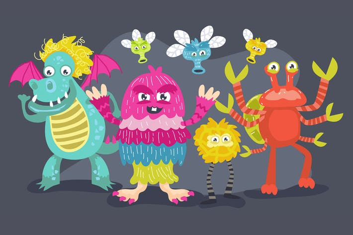 Cover Image For Monster Kids Illustration