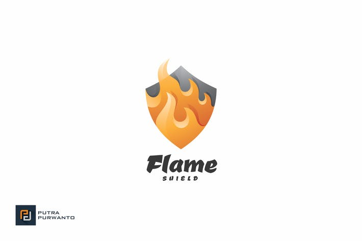 Thumbnail for Flame Shield - Logo Template