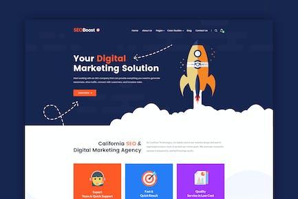 SEOBoost - Digital Marketing Agency PSD Template