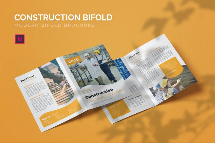 Thumbnail for Construction Company - Bifold Brochure