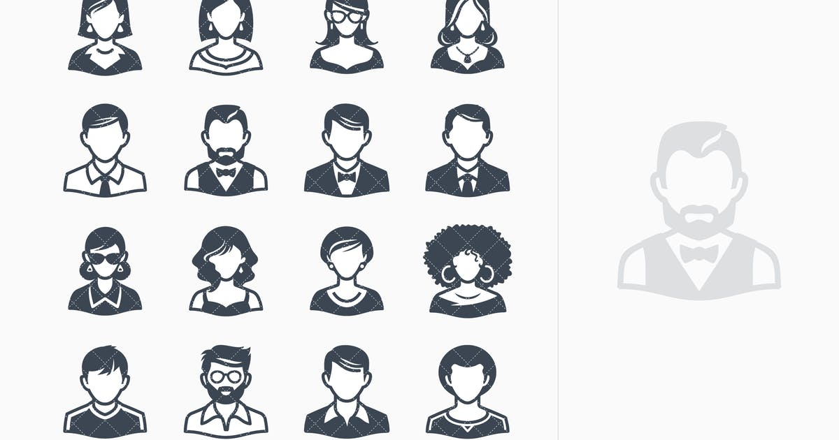 Download Avatars Icons - Set 2 by introwiz1