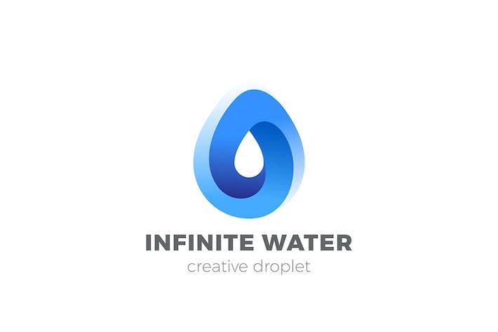 Thumbnail for Water Droplet Logo Aqua Liquid Drop Drink infinite