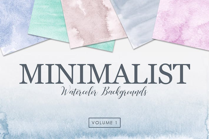 Thumbnail for Minimalist Watercolor Backgrounds Vol. 1