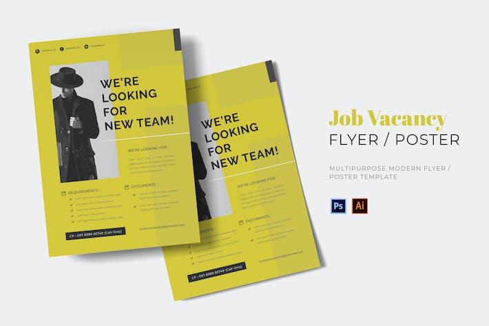 Thumbnail for Job Vacance Flyer