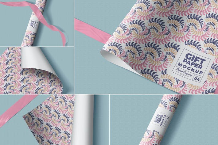 Thumbnail for Gift Wrapping Paper Mockups