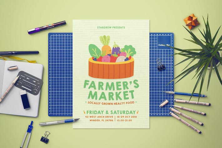 Cover Image For Farmers Market Flyer