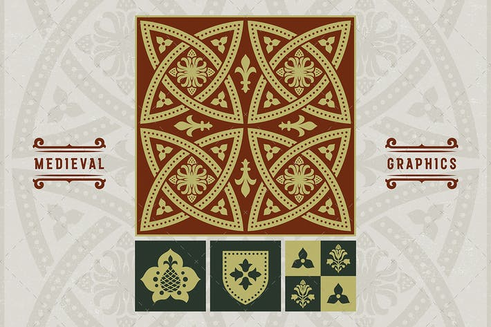 Thumbnail for Middle Ages Ornament Set