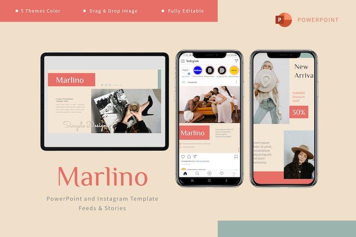 Thumbnail for Марлино - Шаблон Powerpoint и Instagram