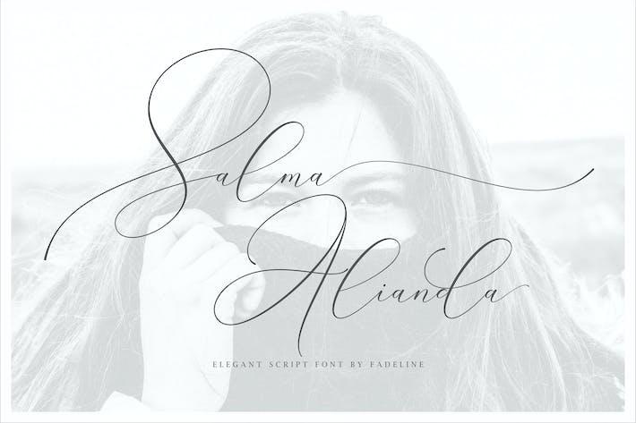 Thumbnail for Salma Alianda - Elegant Font Script