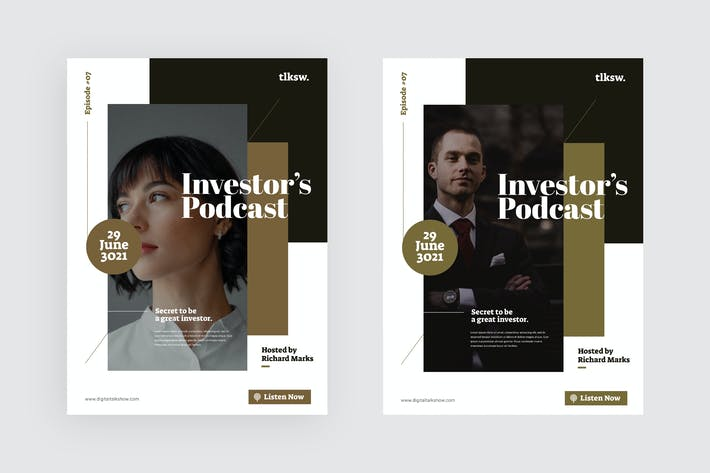 Investor's Podcast - Flyer Template