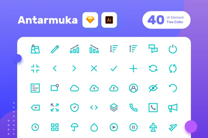 Thumbnail for Antarmuka_Two Color-UI element 2