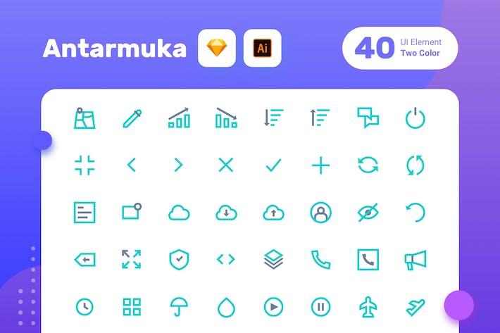 Thumbnail for Antarmuka\_Two Color-UI elemento 2