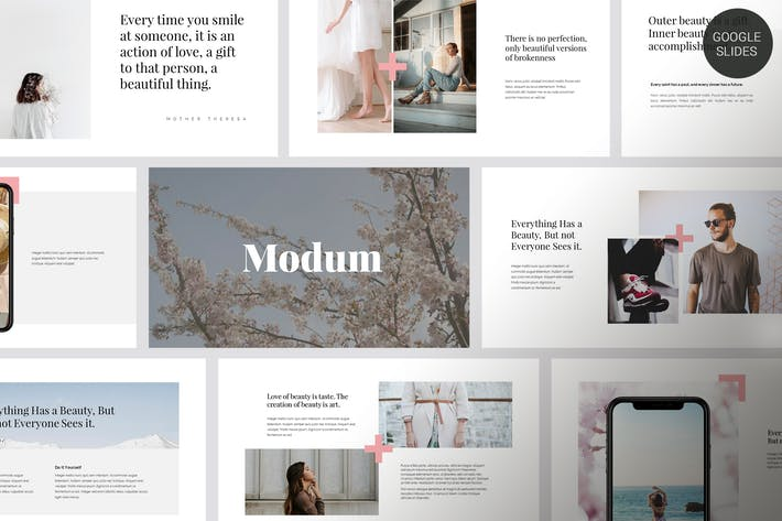 Thumbnail for Modum - Clean & Minimal Google Slides