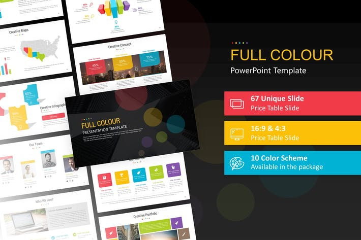 Thumbnail for Full Colour PowerPoint Presentation Template