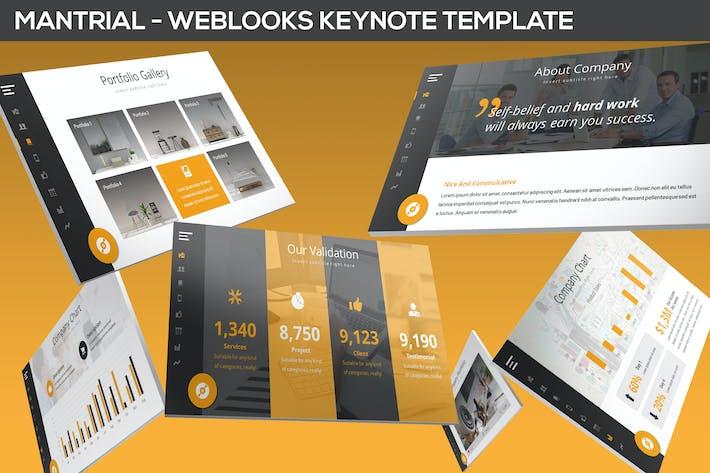 Thumbnail for Mantrial - Weblooks Keynote Template