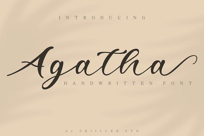 Thumbnail for Agatha Handwritten Font