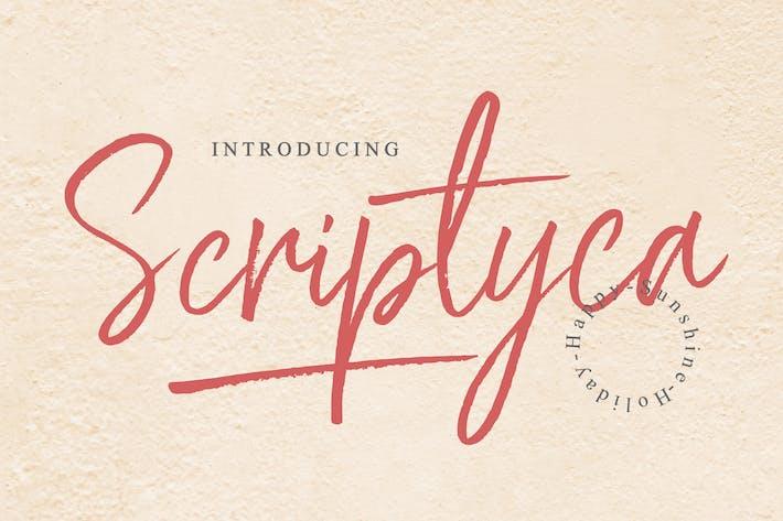 Thumbnail for Scriptyca - Brush Font