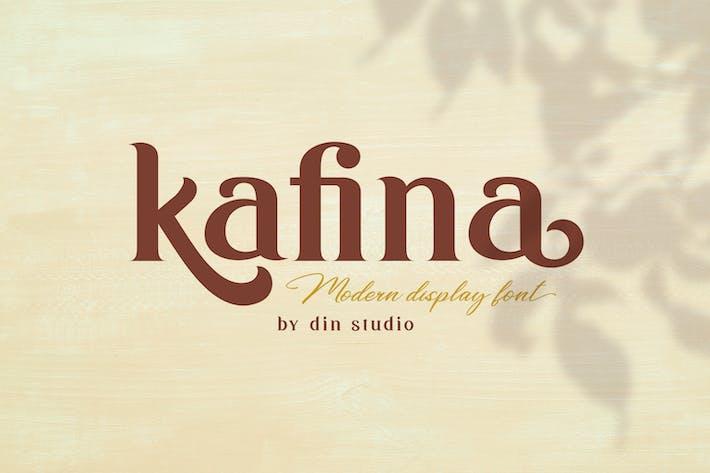 Thumbnail for Kafina - Modern Serif Font