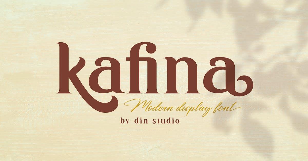 Download Kafina - Modern Serif Font by Din-Studio